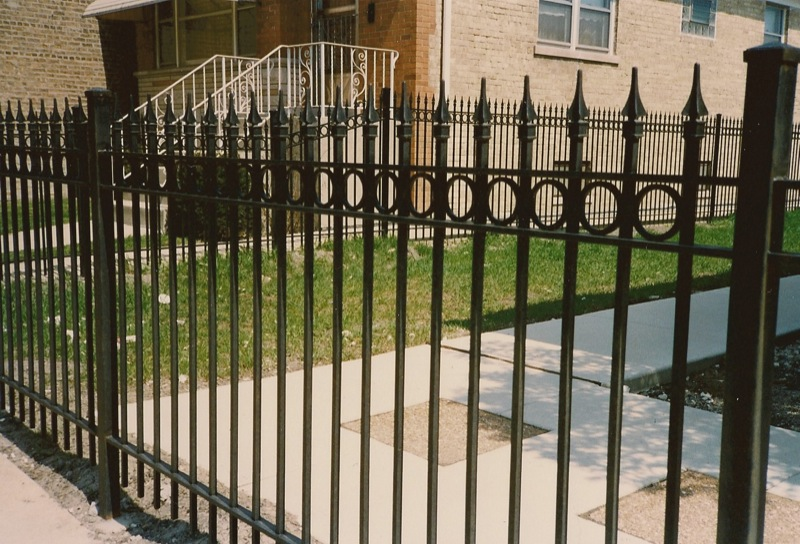 Wrought iron fence chicago railings il